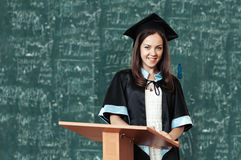 University graduate with a diploma Stock Photo