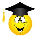The university graduate in a square academic cap, emoticon Stock Image