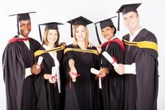 University graduates. Group of multicultural university graduates portrait Royalty Free Stock Image