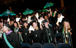 University Graduation. Students at Tulane University celebrating their graduation. University graduation ceremonies are very special occasions. Each university Royalty Free Stock Photography