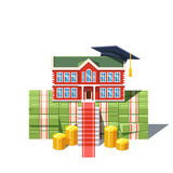 University graduation costs concept Royalty Free Stock Photography