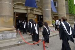University Graduation Procession Stock Photography