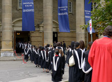 University Graduation Procession Royalty Free Stock Photo