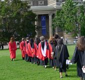 University graduation procession Royalty Free Stock Photography