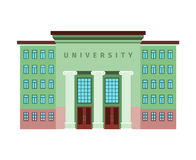 University green color building icon vector illustration