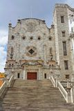 University of Guanajuato. Detail of the stairs and the stone facade in moorish style of the University of Guanajuato, colonial heartland of Mexico Royalty Free Stock Images