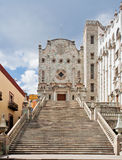 University of Guanajuato Mexico. The stairs and the facade of the historical building Royalty Free Stock Photography