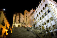 University of Guanajuato Steps Mexico at Night Stock Photos