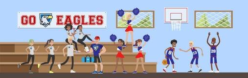 University gym hall royalty free illustration