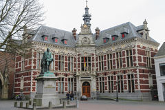 University Hall of Utrecht University and statue of Count Graaf Royalty Free Stock Photos