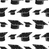 University hat vector seamless pattern royalty free stock photo
