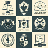 University Heraldry Vintage Stickers Royalty Free Stock Photo