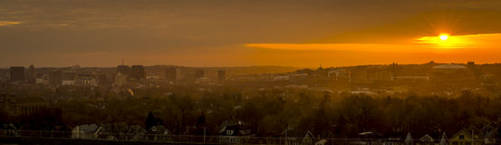 University Hill and Syracuse New York Predawn Royalty Free Stock Image