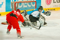 University hockey league final match. Prague, Czech Republic - May 7, 2012: In Tipsport arena has been played final match of Hokejova bitva, university hockey royalty free stock photography