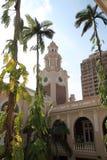 The University of Hong Kong. Clock Tower of Main Building at The University of Hong Kong, a historic building at Hong Kong, China Stock Image