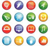 University icon set. University  icons for user interface design Royalty Free Stock Photo