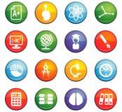 University icon set. University  icons for user interface design Stock Image