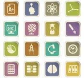 University icon set. University  icons for user interface design Royalty Free Stock Images