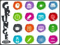 University icon set. University symbol icons for user interface design Royalty Free Stock Image