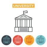University icon. Vector, solid illustration Stock Photo