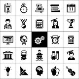 University Icons Black Stock Photos