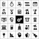 University Icons Black Stock Photos