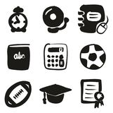 University Icons Freehand Fill. This image is a vector illustration and can be scaled to any size without loss of resolution Stock Illustration