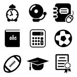 University Icons Royalty Free Stock Photography