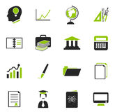 University icons set. University simply icons for web and user interfaces Stock Photography