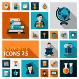 University Icons Set Stock Image
