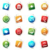 University icons set Stock Photography