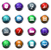 University icons set Stock Image