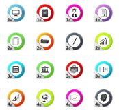 University icons set. University web icons for user interface design Stock Photography