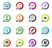 University icons set. University web icons for user interface design Royalty Free Stock Photography