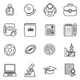 University Icons Thin Line Vector Illustration Set. This image is a vector illustration and can be scaled to any size without loss of resolution Royalty Free Illustration
