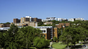 University of Iowa. View of the University of Iowa Campus stock images