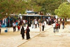 University of Karachi - Students at Prem Gali. PG Canteen 25/09/2012 royalty free stock images