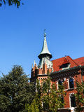 University of Krakow in Planty Park in Krakow Poland Royalty Free Stock Images