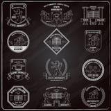 University Labels Chalkboard Royalty Free Stock Photos