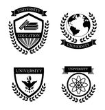 University labels Stock Photos