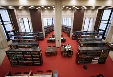University library. The reading room of the University of Toronto, the largest research library in Canada stock photography