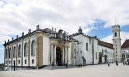 University library building in Coimbra Royalty Free Stock Photos