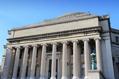 University library, NY. Columbia University library in New York City, United States - college in Upper Manhattan (Morningside Heights neighborhood of Upper West royalty free stock photo