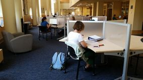 University Library: Study Space. Students in the Marshall University library. Lab has study space and modern technology royalty free stock photography