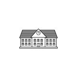 University line icon, school and building. Library vector graphics, a linear pattern on a white background, eps 10 Royalty Free Stock Photography