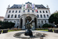 University of Ljubljana main building of the Congress Square Slovenia Royalty Free Stock Photo