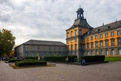 University main builiding in Bonn. BONN, GERMANY - OCTOBER 21: University main builiding on October 21, 2012 in Bonn, Germany. Bonn is former capital of Germany Royalty Free Stock Image