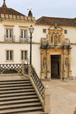 University main entrance. Coimbra . Portugal Royalty Free Stock Photo