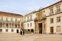 University Main Yard and entrance . Coimbra . Portugal Stock Images