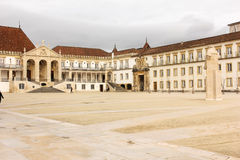 University Main Yard and entrance . Coimbra . Portugal Royalty Free Stock Photography